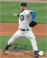 "Ryan Dempster Chicago Cubs Autographed 8"" x 10"" Pitching Photograph"