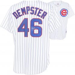Ryan Dempster Chicago Cubs Autographed White Pinstripe Majestic Replica Jersey - Mounted Memories