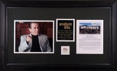 Robert De Niro Framed 8x10 Analyze This Photos with Piece of Hollywood Sign