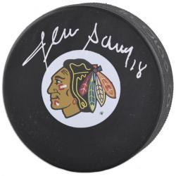 Chicago Blackhawks Denis Savard Autographed Puck -
