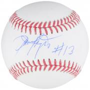 Dennis Haysbert Major League Autographed Baseball with #13 Inscription  - BAS