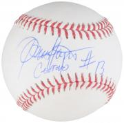 Dennis Haysbert Major League Autographed Baseball with Cerrano Inscription  - BAS