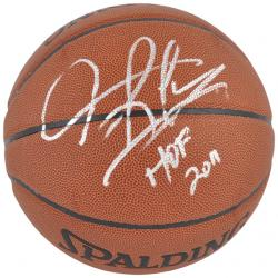 Chicago Bulls Dennis Rodman Autographed Spalding Indoor/Outdoor Basketball with 2011 HOF Inscription - Mounted Memories
