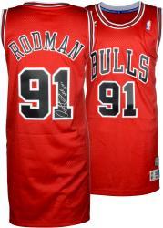 "Rodman, Dennis Auto ""hof 2011"" (bulls/red/adidas) Jrsy"