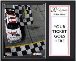 "Denny Hamlin 2012 Advocare 500 Sublimated 12'' x 15''""I Was There"" Plaque - Mounted Memories"