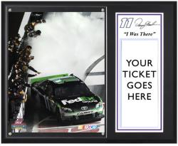 "Denny Hamlin 2012 Irwin Tools 500 Sublimated 12"" x 15""""I Was There"" Plaque - Mounted Memories"