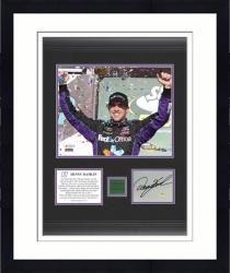 Denny Hamlin 2012 Subway Fresh Fit 500 Framed 8x10 Photograph with Autographed Card and Race Used Flag - Limited Edition of 111 - Mounted Memories