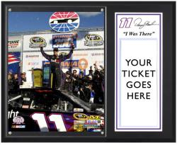 "Denny Hamlin 2012 Sylvania 300 Sublimated 12"" x 15""""I Was There"" Photo Plaque - Mounted Memories"