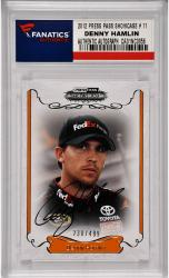 Denny Hamlin Nascar Autographed 2012 Press Pass Showcase #11 Card /499