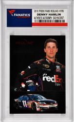 Denny Hamlin Nascar Autographed 2013 Press Pass Redline Redline Racers #RR5 Card