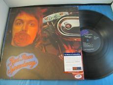 Denny Laine Paul McCartney The Wings Signed Album PSA DNA COA Autograph Red Rose