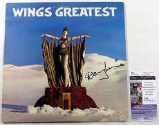 Denny Laine Signed LP Record Album Paul McCartney Wings Greatest Hits  JSA AUTO