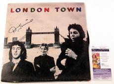 Denny Laine Signed LP Record Album Wings w/ Paul McCartney London Town JSA AUTO