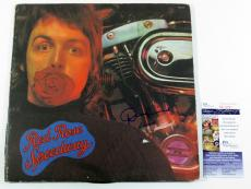 Denny Laine Signed Wings Album w/ Paul McCartney Red Rose Speedway w/ JSA AUTO