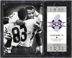 Chicago Bears Super Bowl XX Richard Dent Plaque with Replica Ticket - Mounted Memories