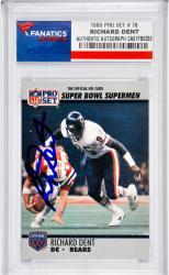 Richard Dent Chicago Bears Autographed 1990 Pro Set #76 Card