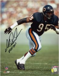 Chicago Bears Richard Dent Autographed 8'' x 10'' Photograph with ''Hall of Fame 2011'' Inscription - Mounted Memories