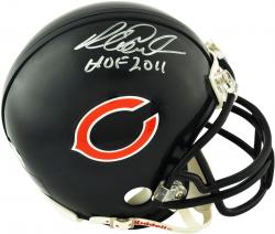 "Richard Dent Chicago Bears Autographed Riddell Mini Helmet with ""HOF 2011"" Inscription - Mounted Memories"