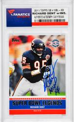 Richard Dent Chicago Bears Autographed 2011 Topps SB #SBL-XX Card with MVP XX Inscription - Mounted Memories  - Mounted Memories