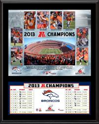 Denver Broncos 2013 AFC Champions Sublimated 12'' x 15'' Plaque - Mounted Memories