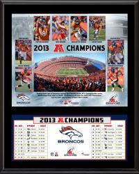 """Denver Broncos 2013 AFC Champions Sublimated 12"""" x 15"""" Plaque"""