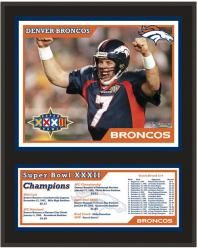Denver Broncos Super Bowl XXXII Sublimated 12x15 Plaque - Mounted Memories