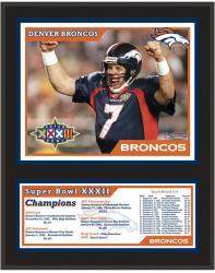 Denver Broncos Super Bowl XXXII Sublimated 12x15 Plaque