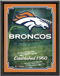 "Denver Broncos Team Logo Sublimated 10.5"" x 13"" Plaque - Mounted Memories"
