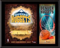 """Denver Nuggets Sublimated 12"""" x 15"""" Team Logo Plaque"""