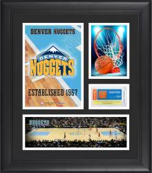 "Denver Nuggets Team Logo Framed 15"" x 17"" Collage with Team-Used Baseketball"