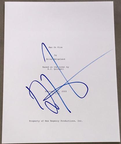 "Denzel Washington Signed Autograph ""man On Fire"" Complete Movie Script Proof"