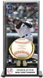 Derek Jeter New York Yankees Baseball Display Case with Gold Glove & Plate