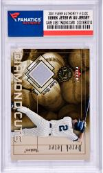 Derek Jeter New York Yankees 2001 Fleer Authority #DJDC Card with a Piece of Game Used Jersey
