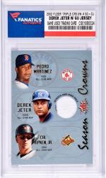 Derek Jeter New York Yankees 2002 Fleer Triple Crown #SC-DJ Card with a Piece of Game Used Jersey