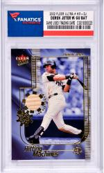 Derek Jeter New York Yankees 2002 Fleer Ultra #HM-DJ Card with a Piece of Game Used Bat