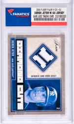 Derek Jeter New York Yankees 2003 Fleer Flair #DC-DJ Card with a Piece of Game Used Jersey