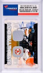 Derek Jeter New York Yankees 2003 Fleer Genuine #LT-DJ Card with a Piece of Game Used Jersey