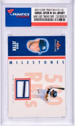 Derek Jeter New York Yankees 2003 Fleer Tradition #M-DJ Card with a Piece of Game Used Jersey Limited Edition of 100