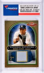 Derek Jeter New York Yankees 2004 Fleer Patchwork #NP-DJ Card with a Piece of Game Used Jersey Limited Edition of 200