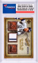 Derek Jeter New York Yankees 2006 Upper Deck Artifacts #MLB-DJ Card with a Piece of Game Used Jersey Limited Edition of 150