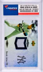 Derek Jeter New York Yankees 2007 Upper Deck Spectrum #SSW-DJ Card with a Piece of Game Used Jersey Limited Edition of 199
