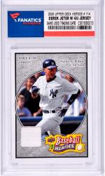 Derek Jeter New York Yankees 2008 Upper Deck Heroes #114 Card with a Piece of Game Used Jersey