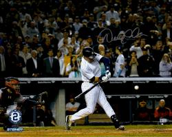 "Derek Jeter New York Yankees Autographed 16"" x 20"" Final Hit at Yankee Stadium Photograph"