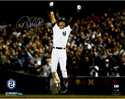 "Derek Jeter New York Yankees Autographed 16"" x 20"" Final Walkoff Celebration Photograph"