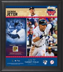 "Derek Jeter Framed 15"" x 17"" 2014 All-Star Collage with Game-Used Dirt from 2014 All-Star GAme"