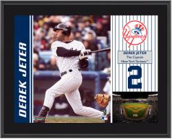 "Derek Jeter New York Yankees Sublimated 10"" x 13"" Plaque - Mounted Memories"