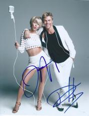 Derek & Julianne Hough Signed Autograph 8x10 Photo Dancing With The Stars A