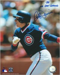 "Bobby Dernier Chicago Cubs Autographed 8"" x 10"" Photograph with 84 NL East Champs Inscription"