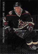 Deron Quint autographed Hockey Card (Phoenix Coyotes) 1999 In The Game Millennium Series #192