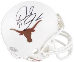 Derrick Johnson Texas Longhorns Autographed Riddell Mini Helmet - Mounted Memories